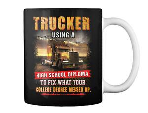 Fashionable Proud Trucker Gift Coffee Mug Gift Coffee Mug