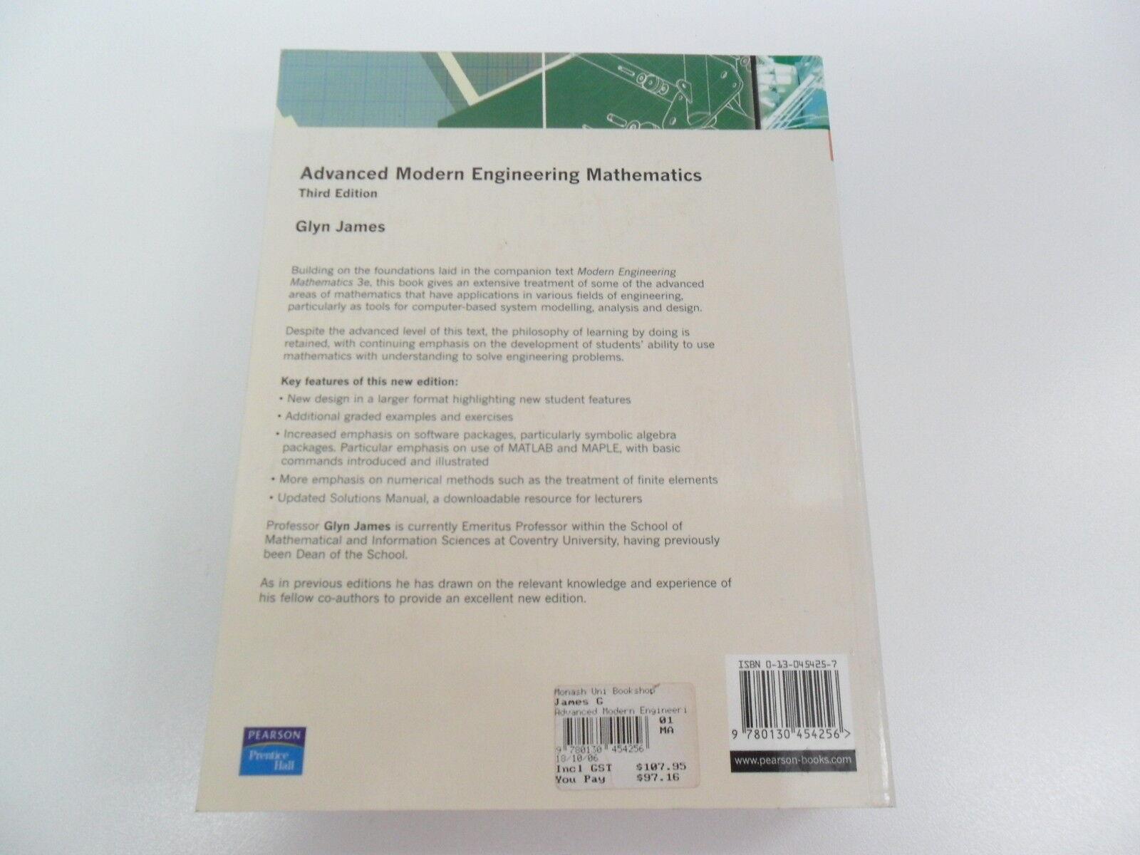 WRG-1822] Modern Engineering Mathematics Solutions Manual Glyn James