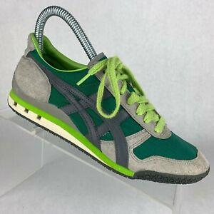 Asics-Onitsuka-Tiger-Ultimate-81-Running-Shoe-Rare-Green-Gray-HN201-Mens-Sz-5-5