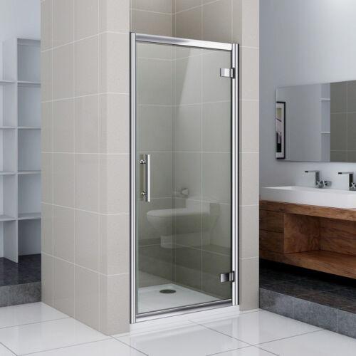Duschabtrennung Duschwand Dusche Drehtür Nischentür Echtglas 800x1850mm P649