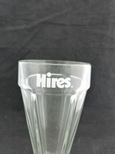 STEMMED VINTAGE HIRES ROOT BEER SODA FOUNTAIN GLASS RIBBED