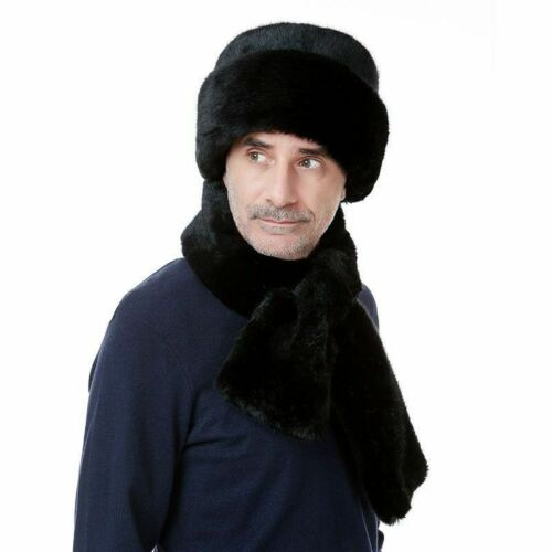 Winter Warm Bomber Hat With Ear Protection Geometric Pattern Fashion Cap For Men