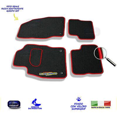 in moquette,battitacco e 4 loghi Tappetini Opel Corsa D dal 2006 al 2017