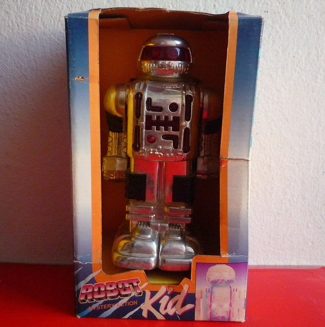 Toy state Mystery action Robot Kid 1993 plastic battery operated BOXED