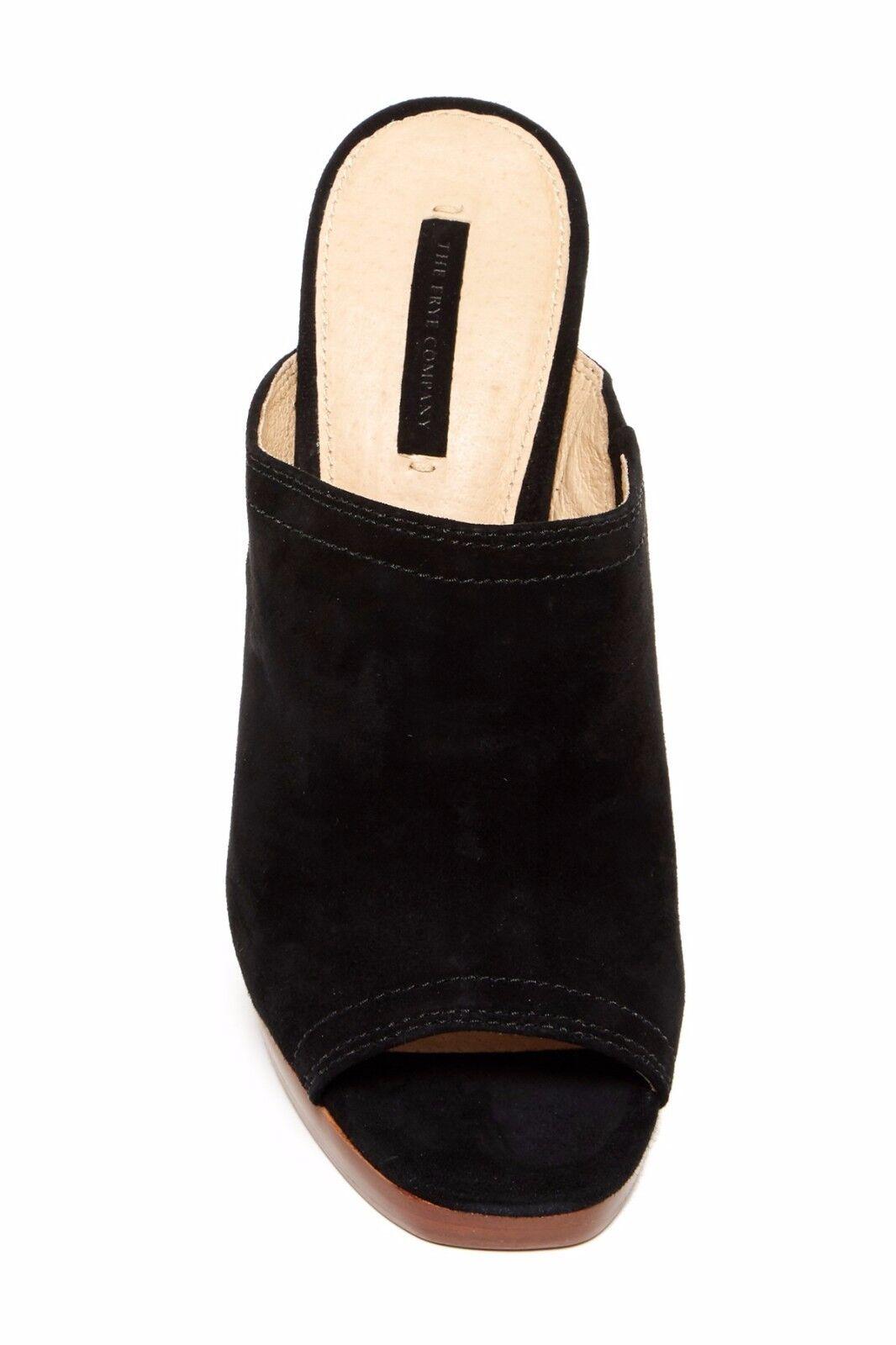 278 Frye Frye Frye Karissa Women's Open Toe Heels Mules Black Size 10 4bd7dd