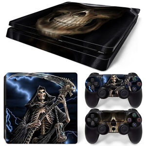 Sony-PS4-PlayStation-4-Slim-Skin-Sticker-Screen-Protector-Set-Grim-Reaper
