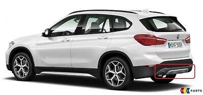 BMW Nuovo Originale X1 Serie F48 x Line Diffusore Paraurti Posteriore Cromata