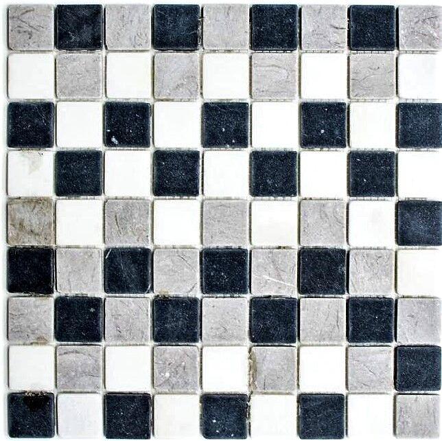 Mosaik Marmor mix Botticino grau Fliesenspiegel Art  40-MOS32 1125   10 Matten