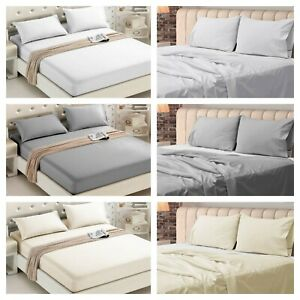 FITTED-FLAT-SHEET-EGYPTIAN-COTTON-400TC-THREAD-COUNT-DOUBLE-SINGLE-SUPER-KING