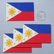 """Philippine Flag Decal Bumper Sticker Personalize Gifts White 3/"""" x 10/"""" Outdoors"""