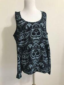 Cotton Xl Black Gray Style Cutout Tank Fresh Crossback Produce 21952 PT0wqfTFU