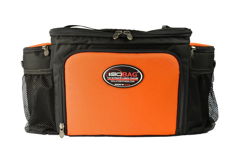 Isolator Fitness Case 6 Meal Isobag - schwarz tangerine tangerine tangerine Schwarz Orange Kühlfach 648850