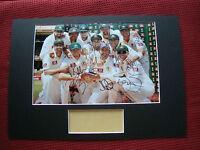 Cricket Australia Clarke Haddin Watson Warner 8 Signed Photo Mount Display-coa