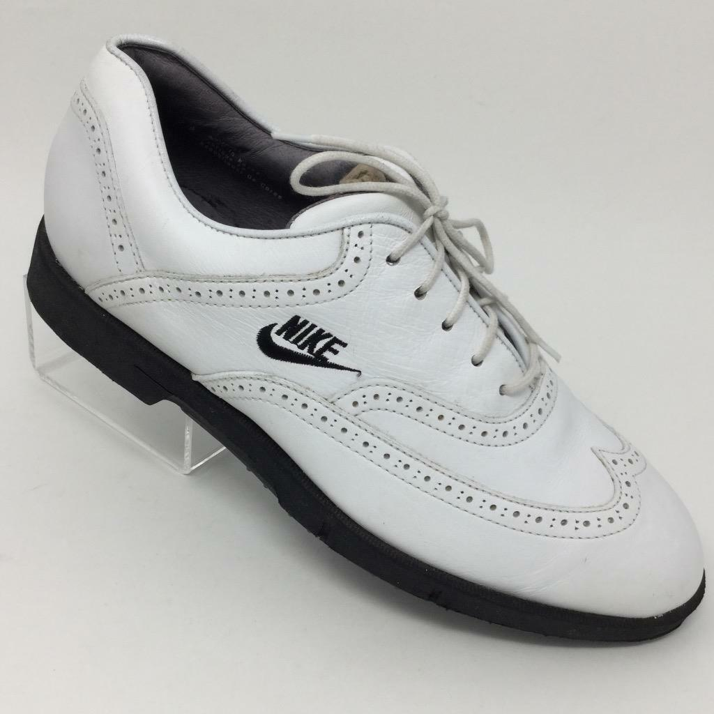Nike Air hombre Golf zapatos blanco Oxford Wingtip zapatos Golf cómodos cd9b41