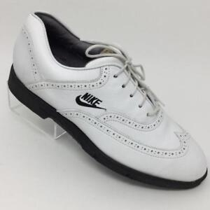 8b28a992e8681 Details about Nike Air Mens Golf White Oxford Wingtip Shoes Size 7.5 Metal  Spike 90046ST