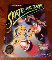 Skate Or Die Nes Box Art Retro Video Game 24 Poster Skateboard Nintendo 80s