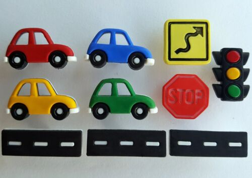 Cars Driving Test Lessons Driver Dress It Up Craft Buttons ON THE ROAD AGAIN