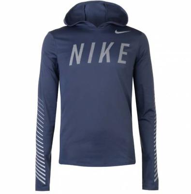 Nike Miler Flash Dry Dri-Fit Running Hoodie Reflect Green AQ4849-375 Mens S M L