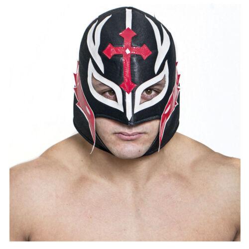 Men/'s Lucha Libre Mexican Wrestling Mask Costume Luchador Black Red Nacho Libre