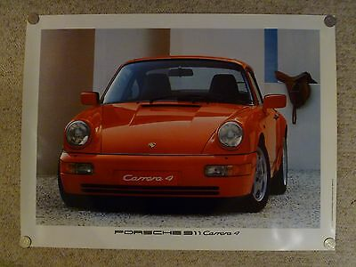 Awesome L@@K 2004 Porsche 911 Carrera Coupe Showroom Advertising Poster RARE!