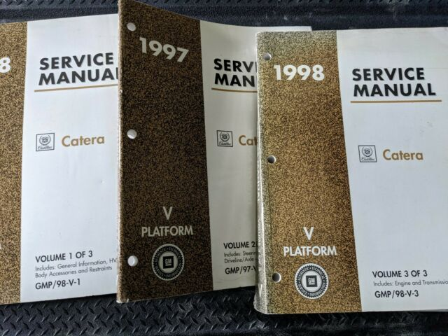 1998 Cadillac Catera First Edition Service Shop Repair Manual Set Dealership 98
