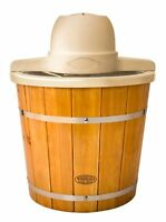 Nostalgia Electrics Icmp400wd Old Fashioned Ice Cream Maker, 4-quart, Brown, on sale