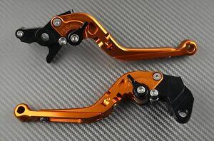 Paire-leviers-levier-ajustable-amp-repliable-orange-CNC-KTM-Duke-125-250-390-2017