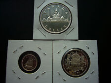 Canada 1953 - 2003 Queen's Gold Jubilee Silver Dollar, 50 Cent and 10 Cent Lot