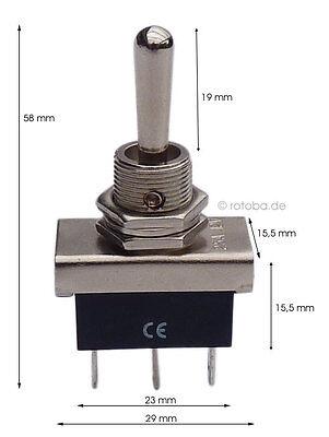 16//19//22mm Power Druckschalter Metall Momentaner Drucktaster On//Off Druckknopf