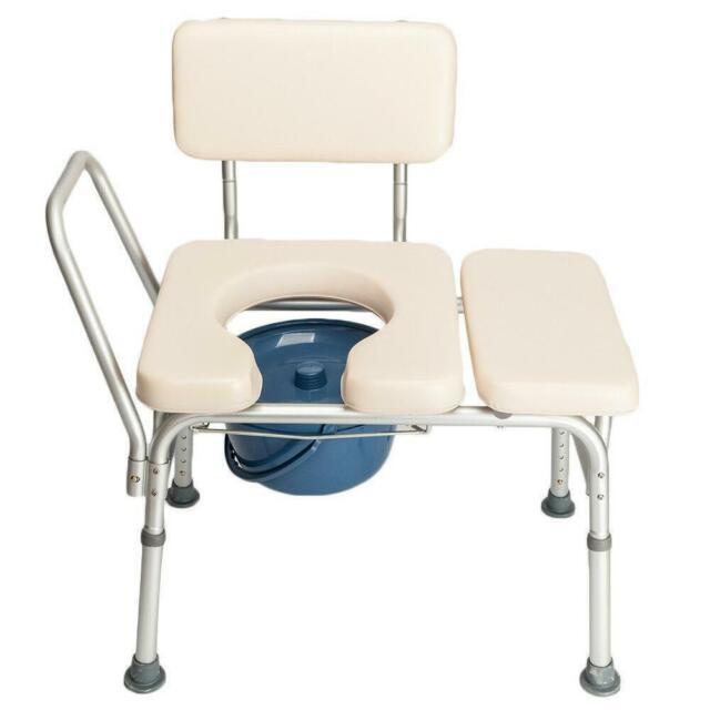 Homcom Portable Commode Wheelchair Bedside Toilet Shower Chair Aluminum Frame For Sale Online Ebay