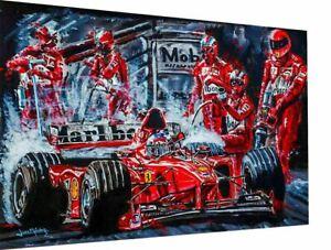 Leinwand Michael Schumacher F1 Abstrakt  Wandbilder - Hochwertiger Kunstdruck