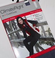 Cuddl Duds Climate Right Women Gray Stretch Legging Long Underwear