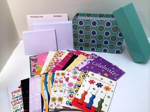 Greeting-Cards-in-a-Decorative-File-Box-w-24-Cards-amp-Envelopes-Organizer