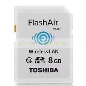 Toshiba-SDHC-8GB-FlashAir-Wi-Fi-C10-Tarjeta-de-memoria-flash-inalambrica-ct-ES