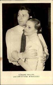 Schauspieler-PK-DDR-1955-Portraet-Foto-Gerard-Philipe-amp-Christiane-Minazzoli