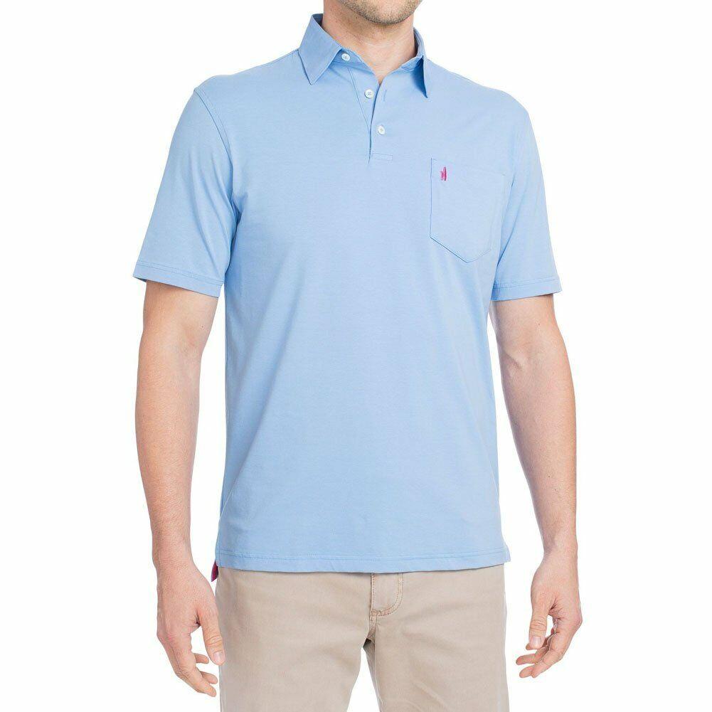 JOHNNIE-O Mens CLASSIC FIT STRETCH blueE SHORT SLEEVE POLO LOGO TOP SHIRT XL