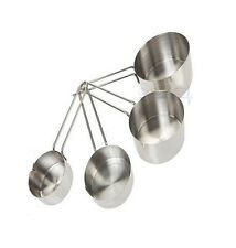 Ethos Measuring Cups - Set Of 4 - Stackable Stainless Steel Baking Cooking Metal