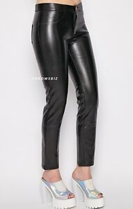 Women/'s PU Faux Leather Look Skinny Trousers Size UK 6-20 UK Seller Fast Post