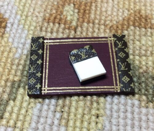 Pat Tyler Dollhouse Miniature Desk Blotter Note Pad Accessory Set P426