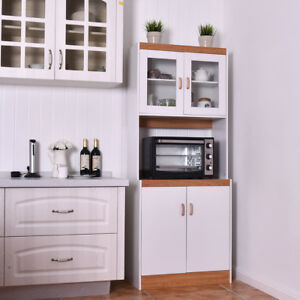 Image Is Loading Tall Microwave Cart Stand Kitchen Storage Cabinet Shelves