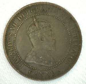 1906-Canada-One-Cent-Coin-1c-Large-Cent-Very-Fine-Bronze