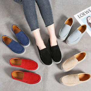 Real-Leather-Women-039-s-Comfort-Breathable-Walking-Casual-Ladies-Flats-Pumps-Shoes