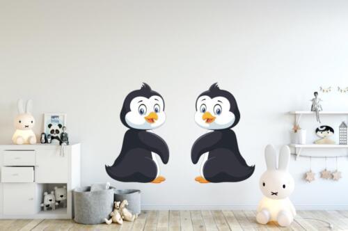 Lindo Pingüino Pareja Vinilo Pegatina Calcomanía-Niños Pared Arte-Dormitorio de Niños 18