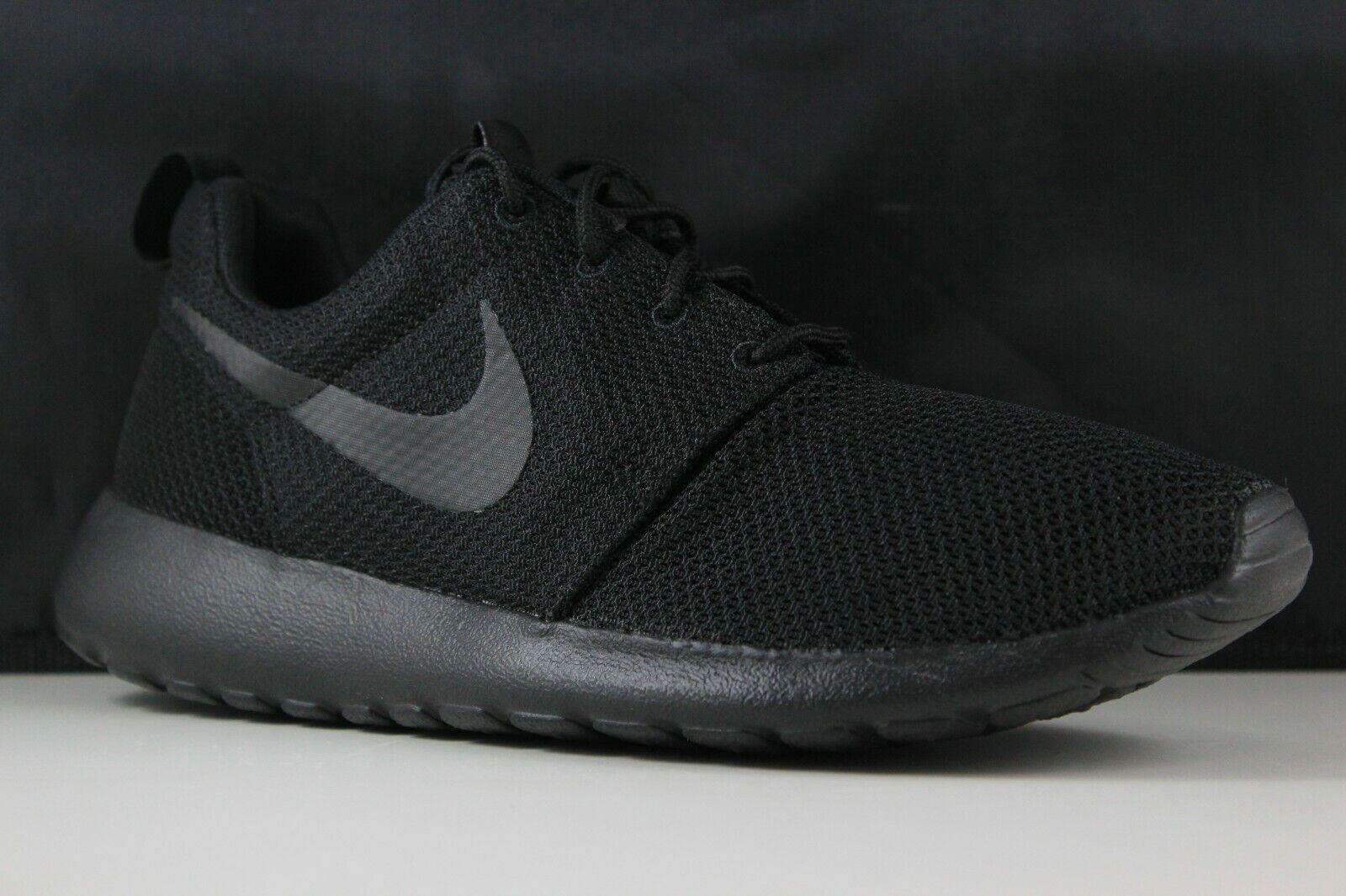e84e7184293e Nike Roshe One Rosherun Triple Black Mens Running Shoes SNEAKERS ...