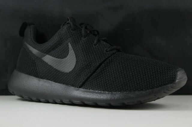3476a409719fe Nike Roshe One Rosherun Triple Black Mens Running Shoes SNEAKERS ...