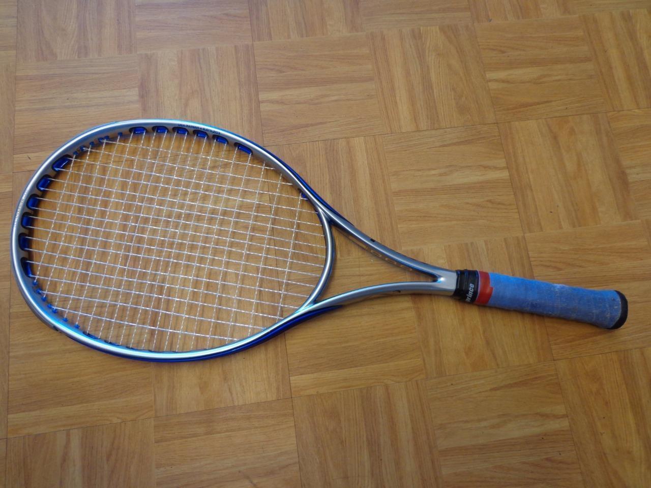 Prince O3 Speedport Azul 110 cabeza 4 3 8 Grip Tenis Raqueta