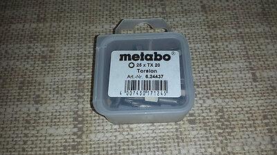 Metabo 25 x Bits Torsion Torx 20 / 25 mm  - 6.24437 #u.i.R
