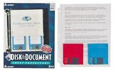 Averyr Disk Amp Document Sheet Protectors Top Loading Pack Of 3