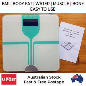 Digital-Wireless-Bluetooth-Glass-BMI-Body-Fat-Water-Muscle-Bone-Bathroom-Scales