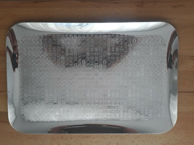 Servierplatte Buffet Platte Eisen Tablett Rund